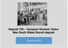 Transport Workers' Union New South Wales Branch deposit 1
