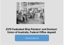Federated Ship Painters' and Dockers' Union of Australia, Federal Office deposit