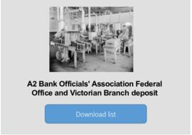 Bank Officials' Association Federal Office and Victorian Branch deposit