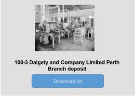 Dalgety and Company Limited Perth Branch deposit