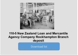 New Zealand Loan and Mercantile Agency Company Rockhampton Branch deposit