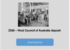 Wool Council of Australia deposit