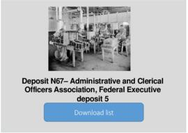 Administrative and Clerical Officers Association, Federal Executive deposit 5