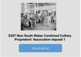 New South Wales Combined Colliery Proprietors' Association deposit 1