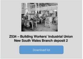 Building Workers' Industrial Union New South Wales Branch deposit 2