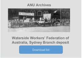 Waterside Workers' Federation of Australia, Sydney Branch deposit