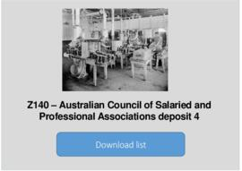 Australian Council of Salaried and Professional Associations deposit 4