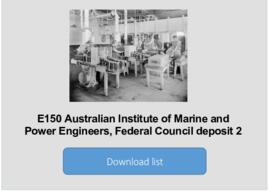 Australian Institute of Marine and Power Engineers, Federal Council deposit 2