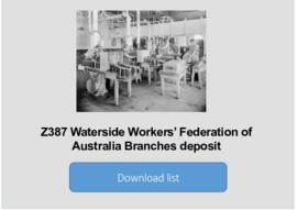 Waterside Workers' Federation of Australia Branches deposit