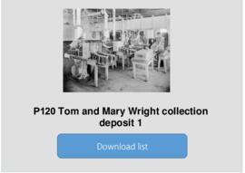 Tom and Mary Wright collection deposit 1