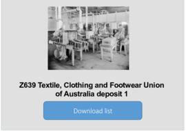Textile, Clothing and Footwear Union of Australia deposit 1