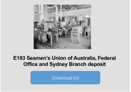 Seamen's Union of Australia, Federal Office and Sydney Branch deposit