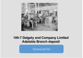 Dalgety and Company Limited Adelaide Branch deposit