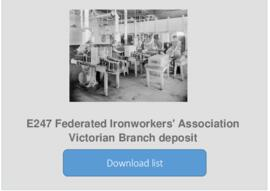 Federated Ironworkers' Association Victorian Branch deposit