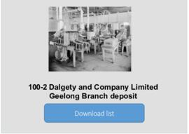 Dalgety and Company Limited Geelong Branch deposit