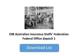 Australian Insurance Staffs' Federation Federal Office deposit 1