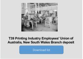 Printing  Industry Employees' Union of Australia, New South Wales Branch deposit
