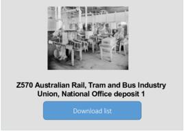 Australian Rail, Tram and Bus Industry Union, National Office deposit 1