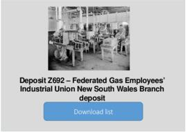 Federated Gas Employees' Industrial Union New South Wales Branch deposit