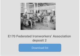 Federated Ironworkers' Association deposit 2